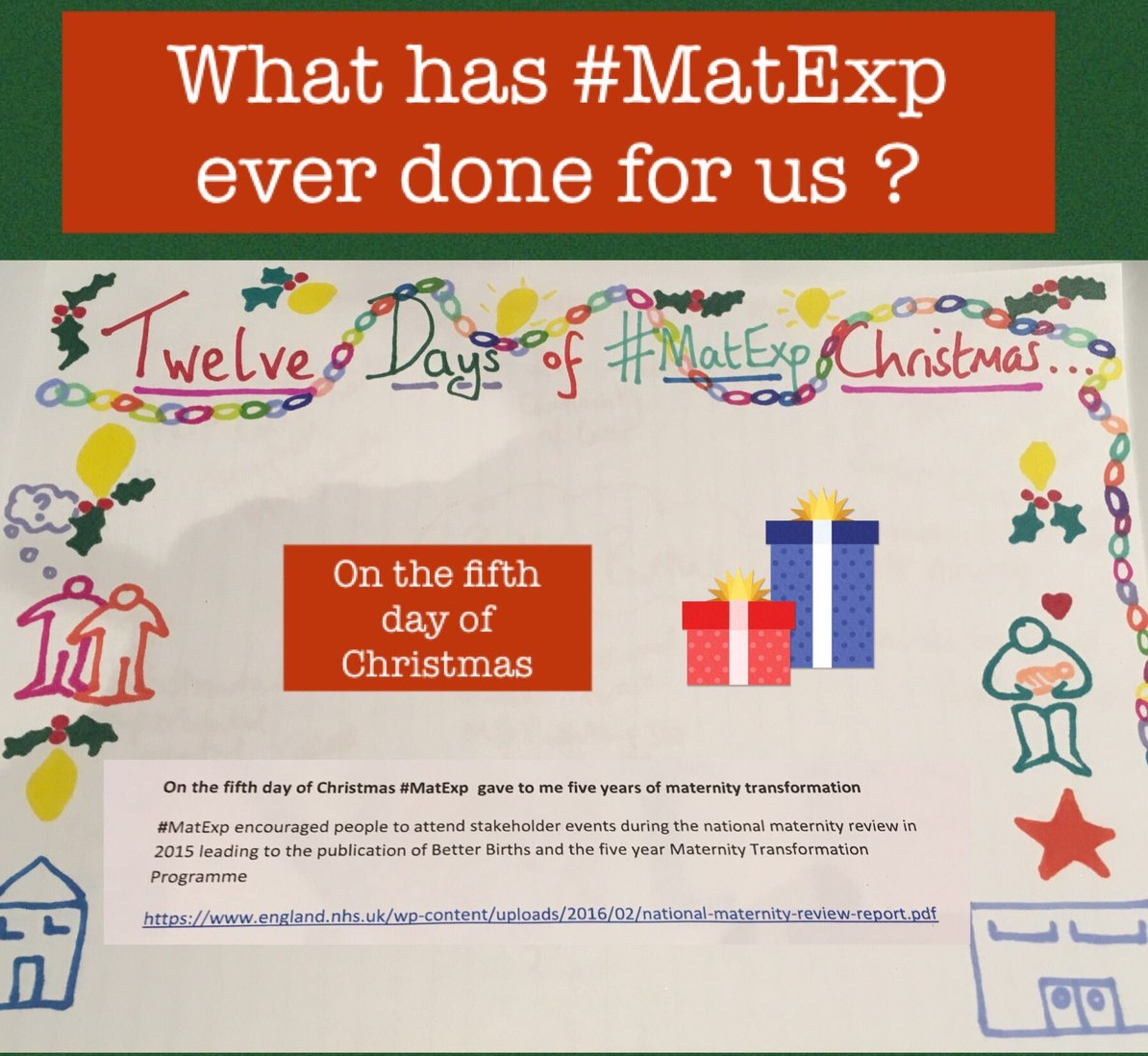 MatExp 12 days of Christmas Day 5