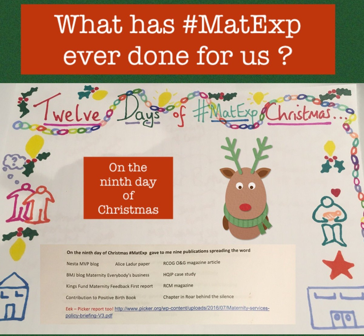 MatExp 12 days of Christmas Day 9